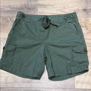 J.Crew Green Cargo Shorts